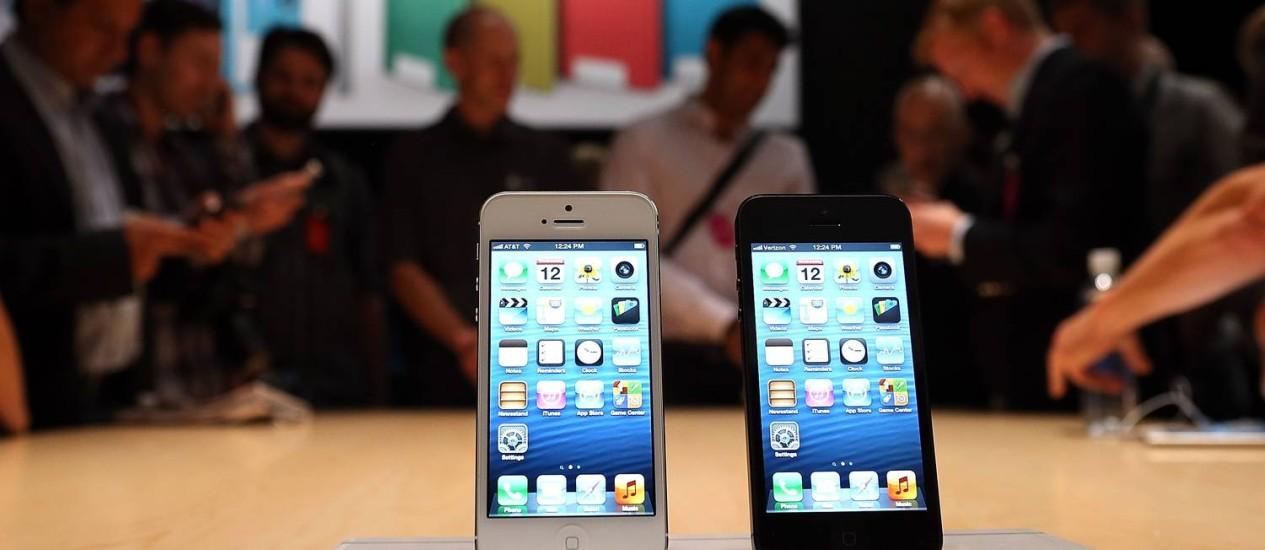 iPhone 5, mais recente smartphone da Apple Foto: JUSTIN SULLIVAN / AFP
