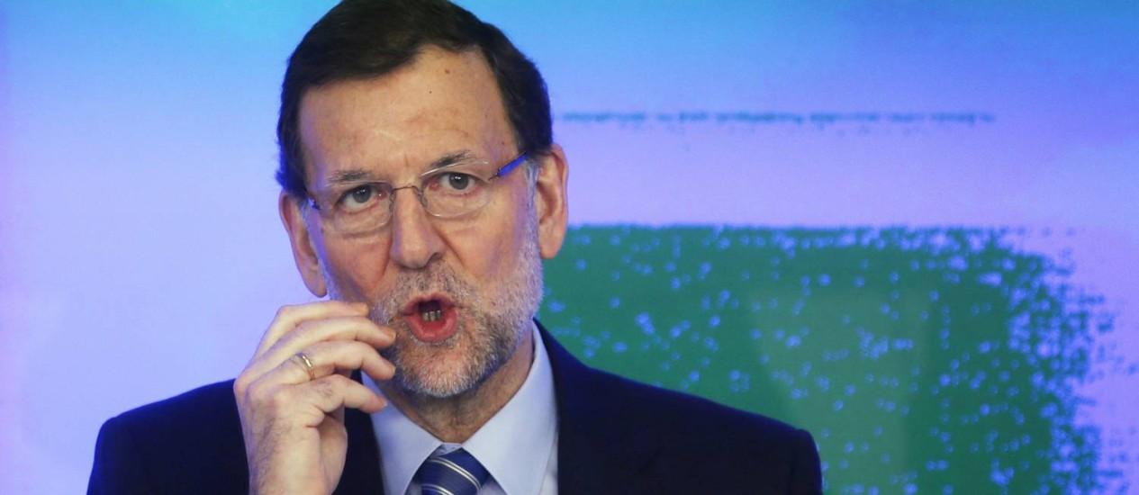 Primeiro-ministro espanhol Mariano Rajoy presta esclarecimentos sobre suposto esquema de corrupção envolvendo o partido governista Foto: SUSANA VERA / REUTERS