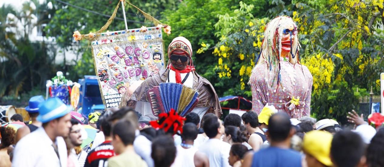 Desfile do Bloco da Ansiedade, em 2013, homenageando Luiz Gonzaga Foto: Jorge William / O Globo