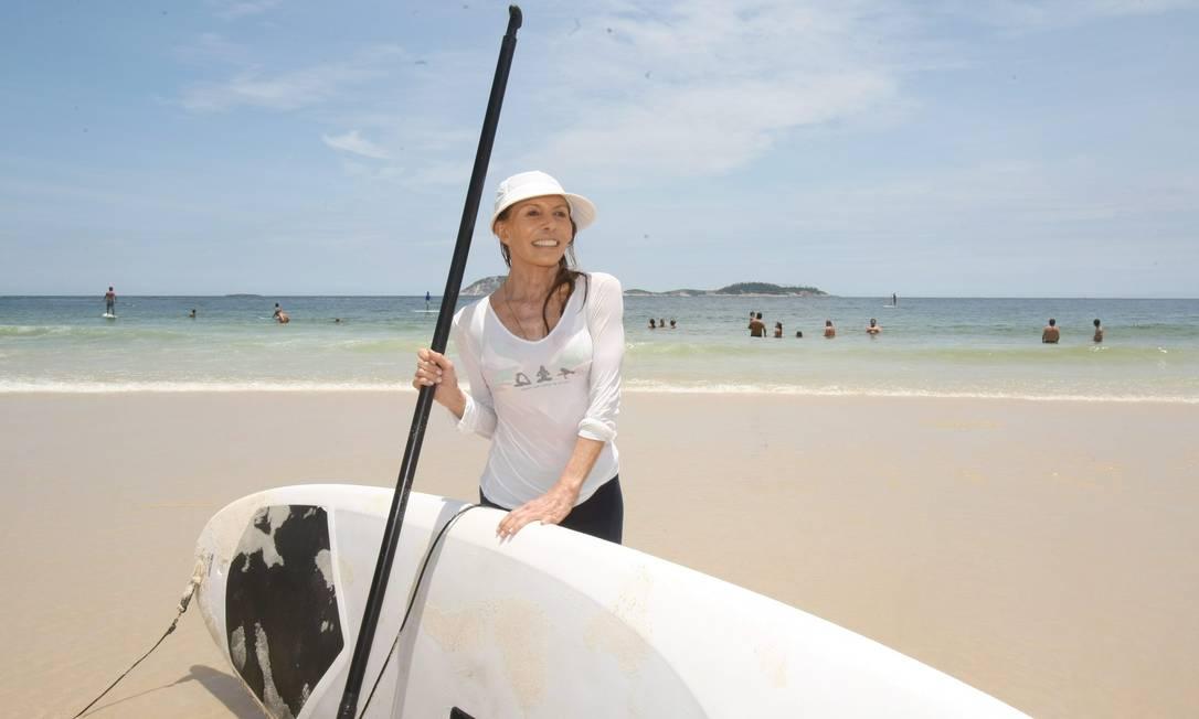 Maria de Almeida, de 60 anos, descobriu uma outra cidade vista do mar Marcos Ramos / Foto: Marcos Ramos/O Globo