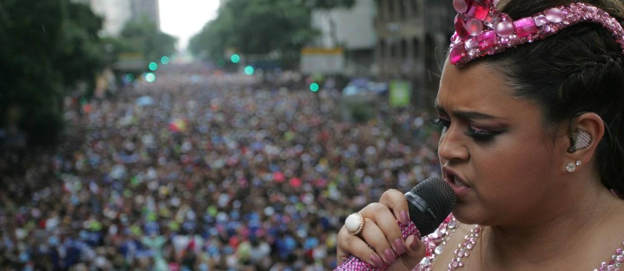 Desfile do bloco da Preta foi o primeiro do Rio a ser transmitido ao vivo no Youtube Foto: Pedro Teixeira / O Globo