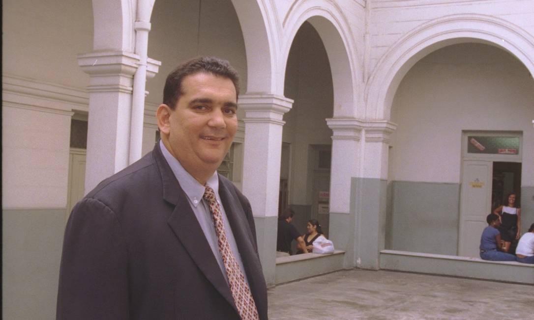O vereador Carlos Macedo, acusado de ser o mandante do assassinato do parlamentar Lúcio do Nevada Foto: Gustavo Stephan - 05/11/1999 / Agência O Globo