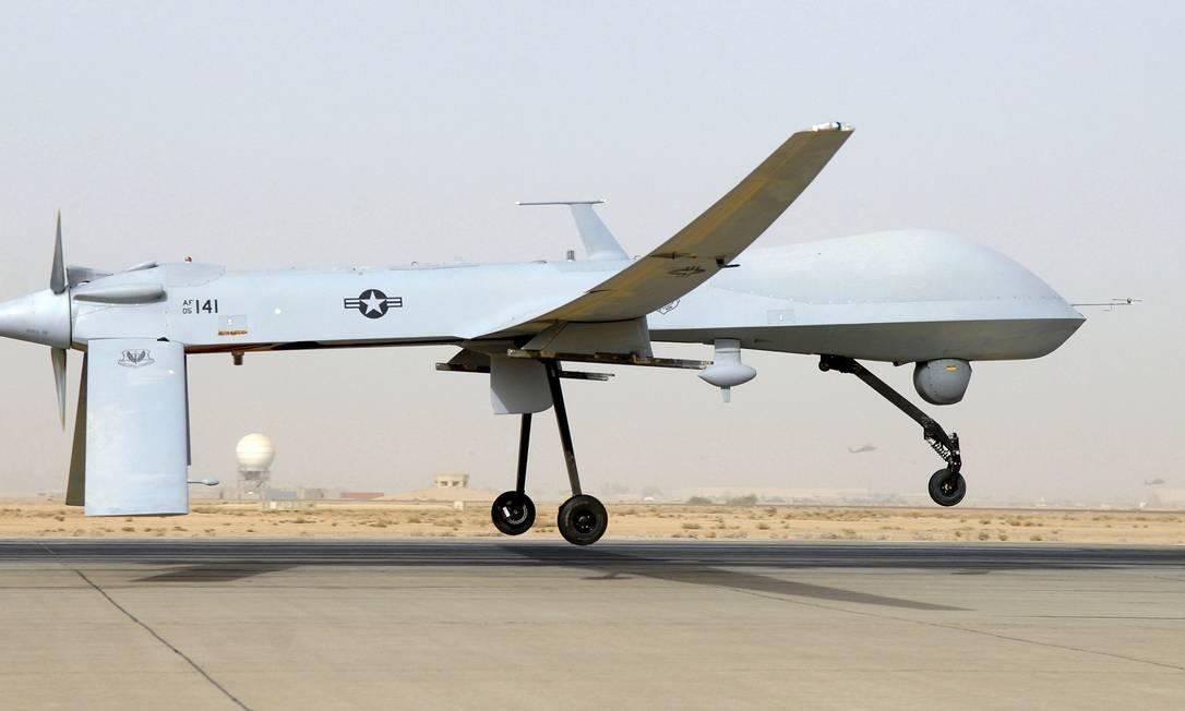 Avião não tripulado americano na base aérea de Balad, no Iraque Foto: HANDOUT / Reuters