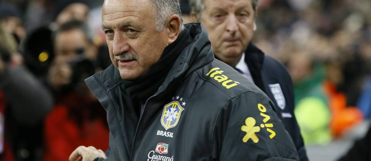O amistoso contra o Chile será o quarto da seleção sob o comando de Luiz Felipe Scolari Foto: Kirsty Wigglesworth / AP