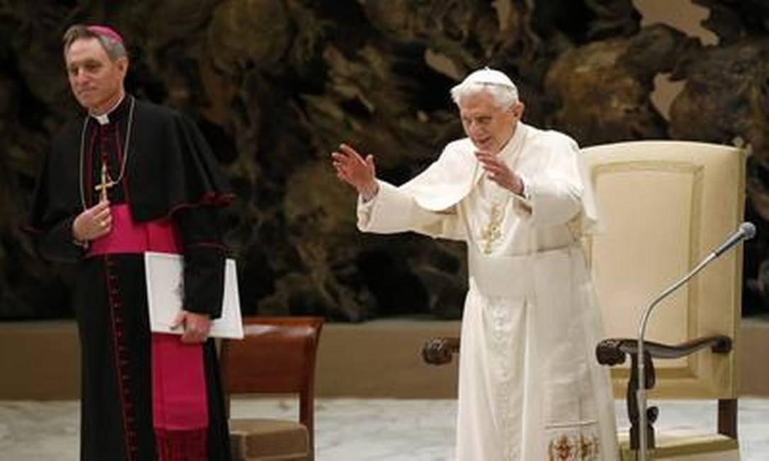 O Papa Bento XVI em audiência no Vaticano Foto: TONY GENTILE/Reuters