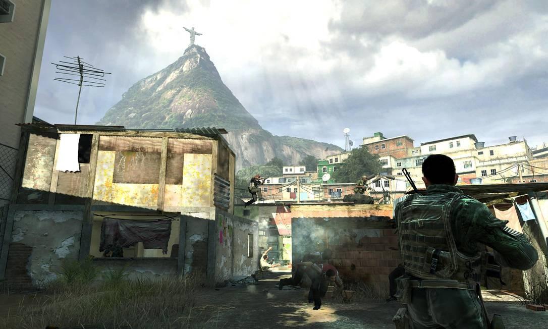 Reprodução de imagem do jogo Call of Duty, um simulador de operações militares Foto: Terceiro / Agência O Globo