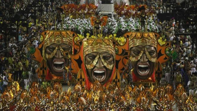 Campeã. Apresentação da Império da Tijuca, que deu à escola o título da Série A do carnaval: agremiação voltará ao Especial após 18 anos Foto: Eduardo Naddar / O Globo
