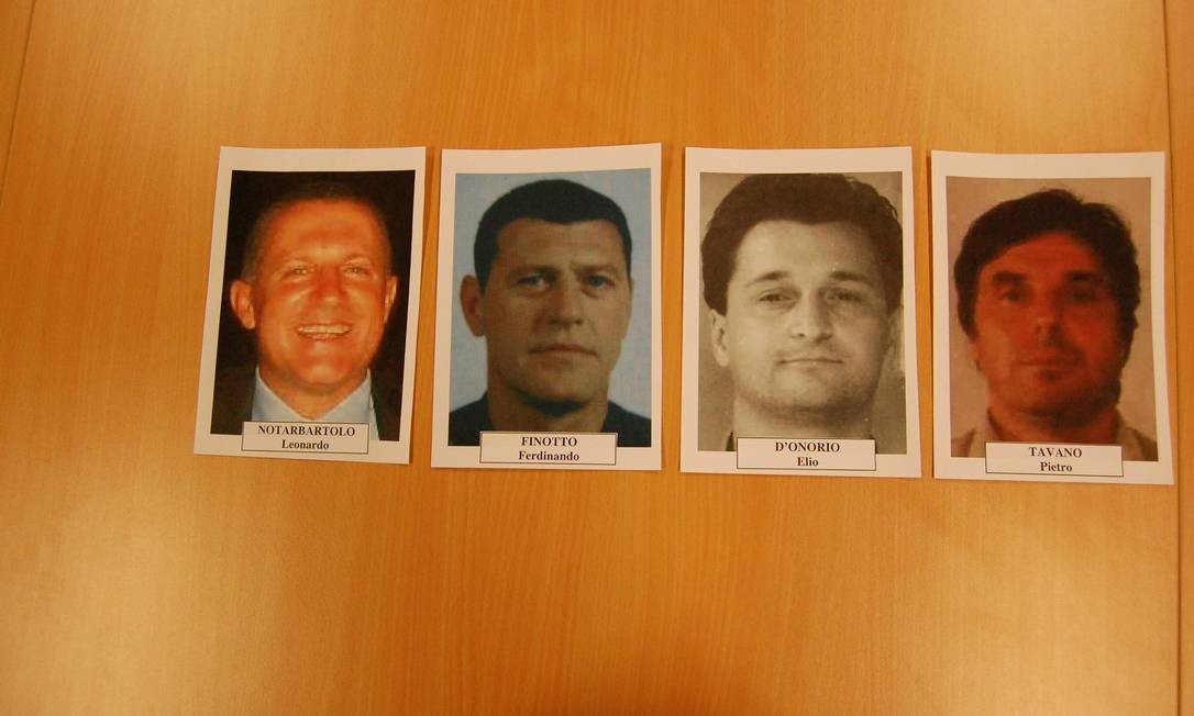 Leonardo Notarbartolo (à esquerda), Ferdinando Finotto, Elio D'Onório e Pietro Tavano: os ladrões Foto: Divulgação /