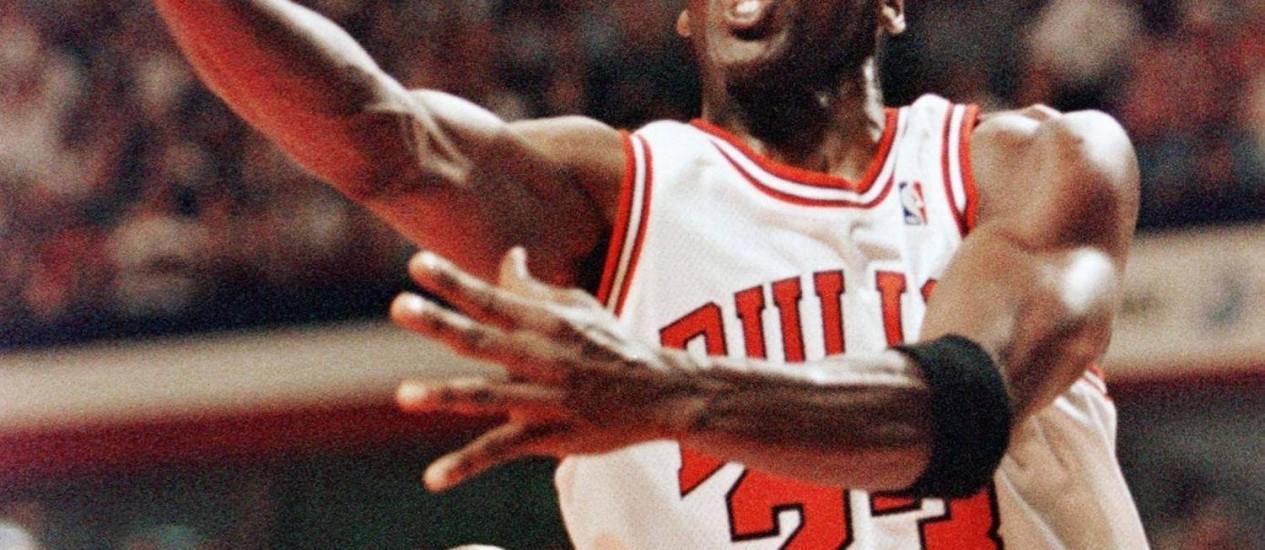 Michael Jordan em foto de arquivo Foto: Daniel Pillitt / AFP/Arquivo