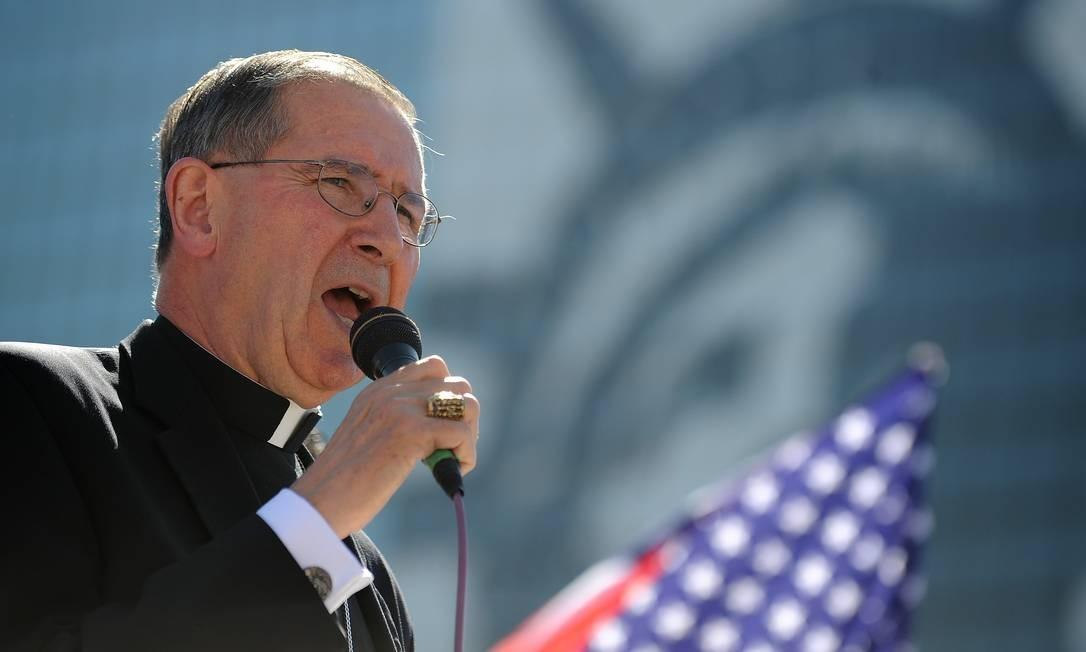 Cardeal Roger Mahony foi afastado de suas funções na Igreja Foto: ROBYN BECK / AFP
