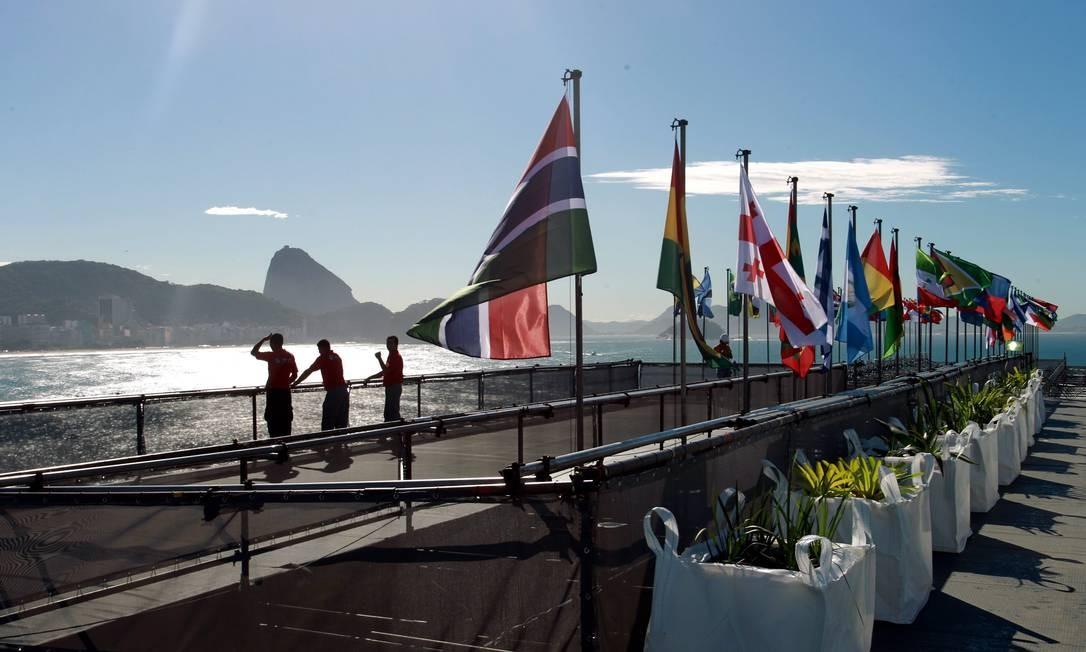 Forte de Copacabana recebe eventos esporadicamente, como o Humanidade 2012 , que fez parte da Rio + 20 Foto: Gabriel de Paiva 11/06/2012 / O Globo