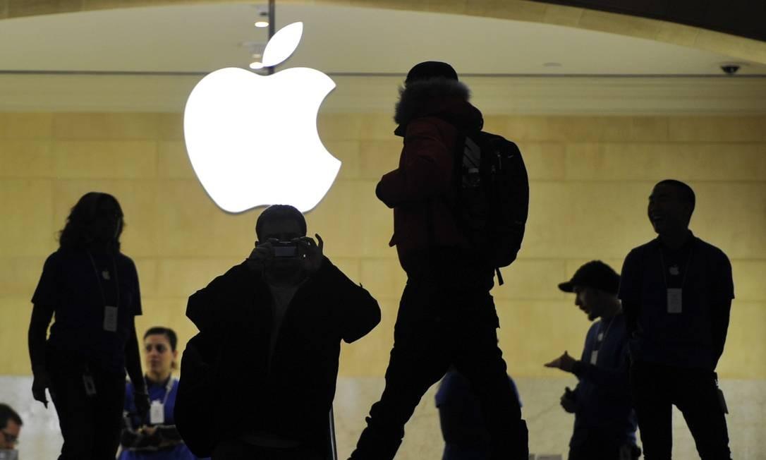 Apple Store da estação Grand Central, em Nova York Foto: TIMOTHY A. CLARY / AFP