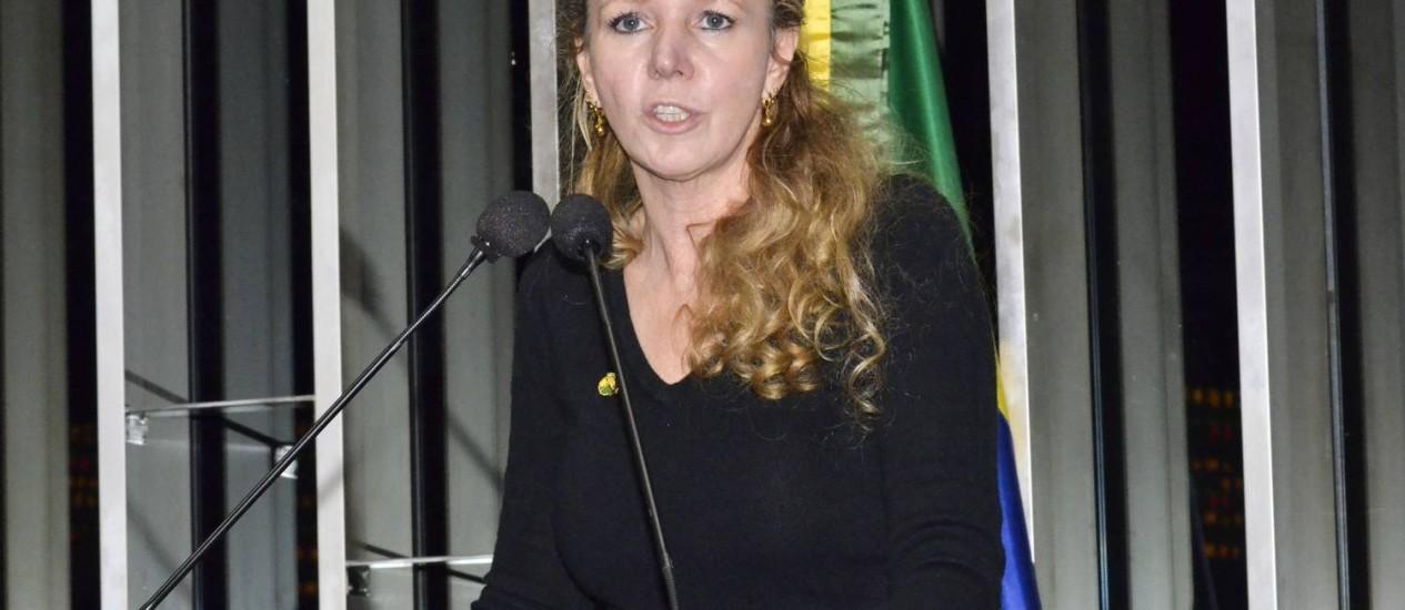 A senadora Vanessa Grazziotin (PCdoB-AM) em março de 2011 Foto: Divulgação/Agência O Globo
