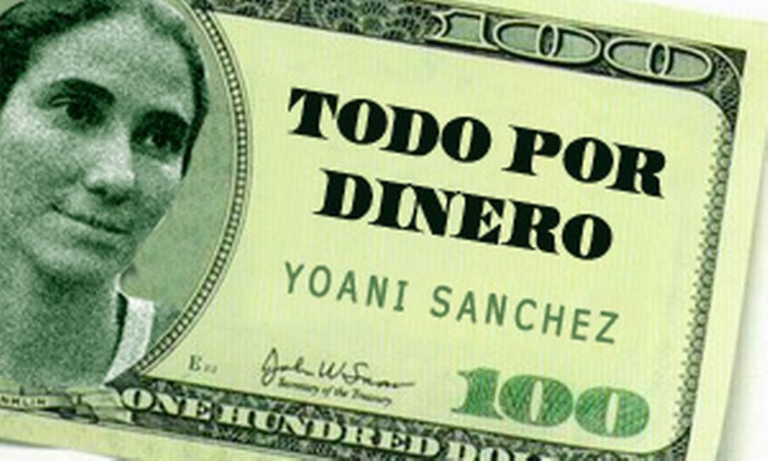 Uma das imagens que circulam na rede mostram a dissidente em uma nota de US$ 100 Foto: Reprodução