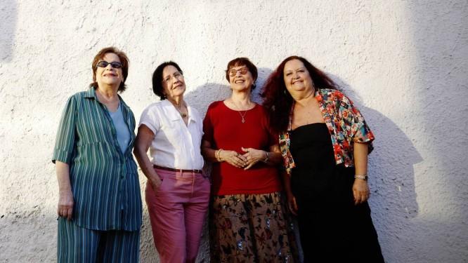 Cybele, Cynara, Cyva e Sonya: a formação do Quarteto em Cy que permanece há 32 anos. Foto: Camilla Maia