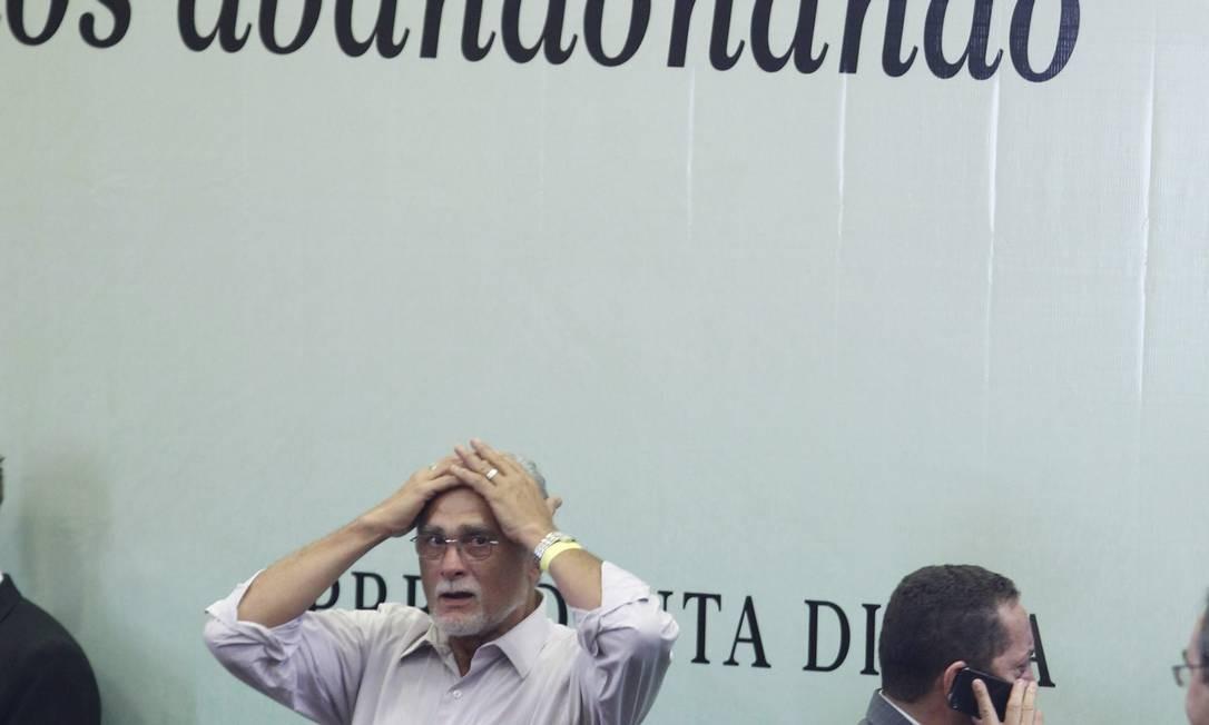 PA São Paulo (SP) 20/02/2013.Comemoração 10 anos do PT no poder.Na foto José Genoino , chega ao evento.Foto Marcos Alves / Agencia O Globo. Foto: Marcos Alves / Agência O Globo