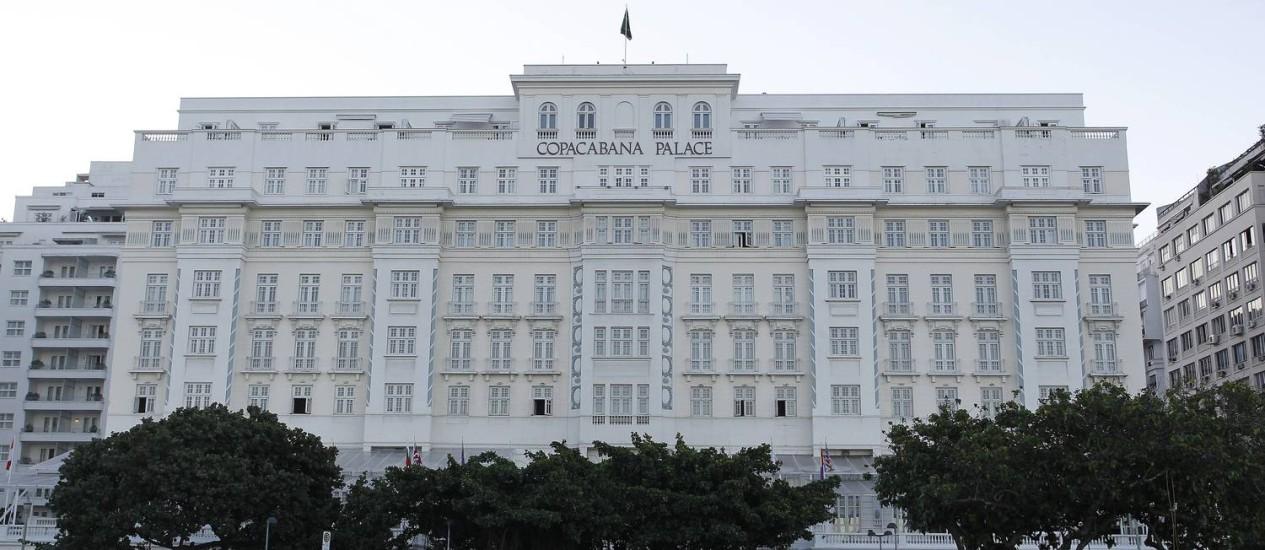 Copacabana Palace, na Avenida Atlântica, na Zona Sul do Rio Foto: Wagner Meier - 29.06.2012 / O Globo