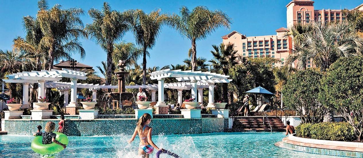 A piscina central do Lakeshore Reserve, resort do Marriott Vacation Club Foto: Divulgação