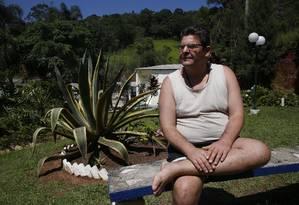 Mauricio Bitencourte, viciado em crack e cocaína, no Centro de Tratamento Retiro Claudio Amancio Foto: Denise Meirelles / Agência O Globo