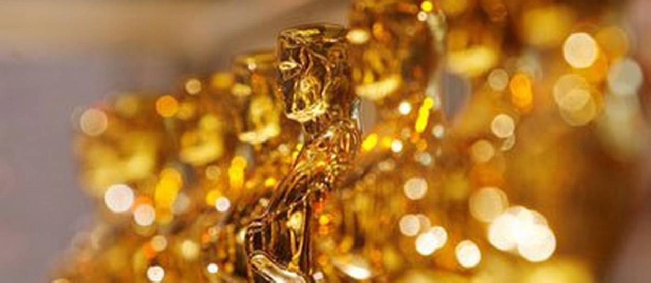 Imagem de arquivo das estatuetas do Oscar Foto: Reuters
