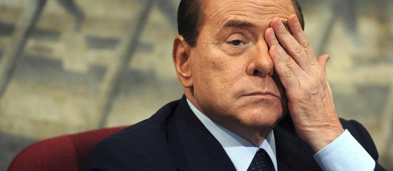 Silvio Berlusconi durante evento em Roma em 2011 Foto: STRINGER/ITALY / REUTERS
