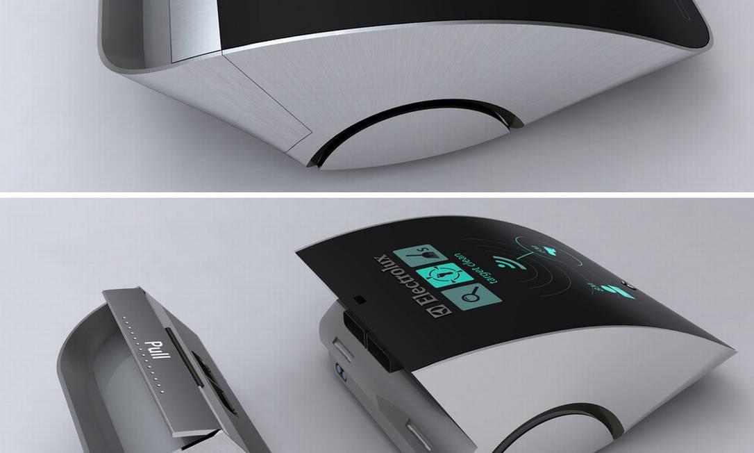 O Robo TAP Cleaner foi apresentado durante a competição Electrolux Design Lab. Funciona assim: um dispositivo é colocado dentro do sapato para mostrar ao robô os lugares que precisam de limpeza. Por enquanto, é só um projeto. Mas tecnologia já existe para transformar o aparelho em realidade Reprodução internet