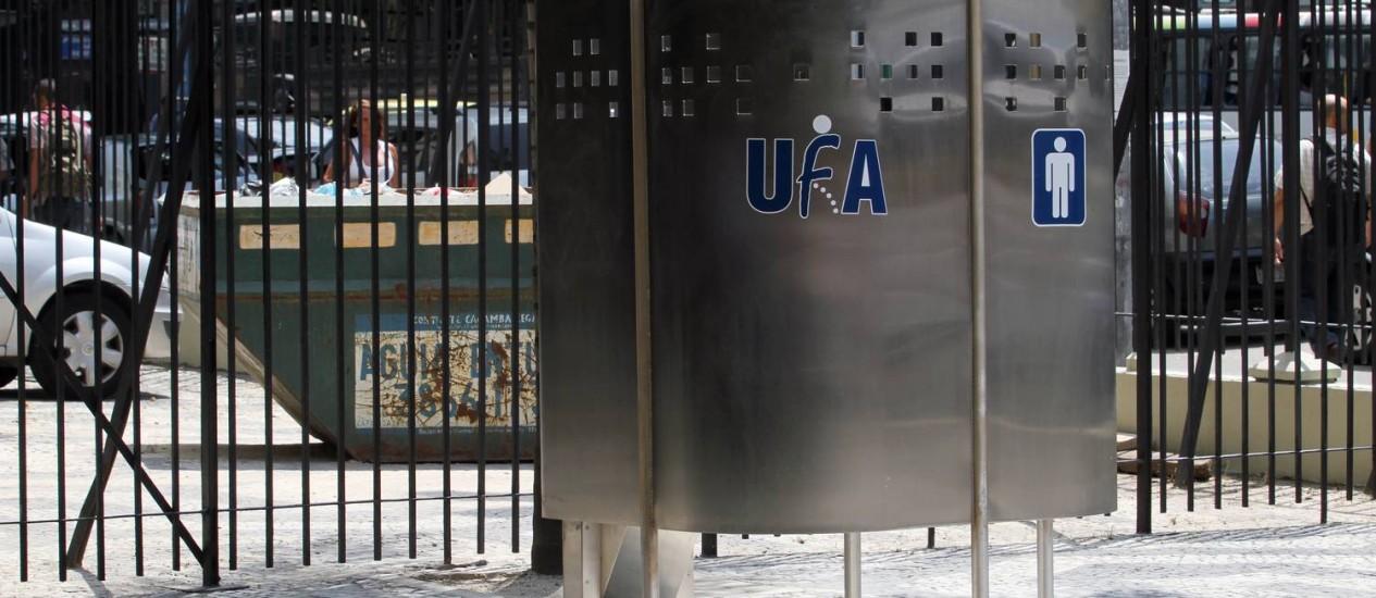 Mictório inaugurado na Central do Brasil custou R$ 19 mil Foto: Divulgação / Prefeitura do Rio