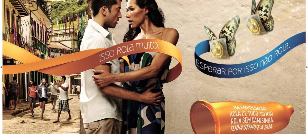 Cartaz da campanha contra a Aids do Ministério da Saúde para o carnaval 2012 Foto: Divulgação / Ministério da Saúde