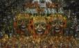Desfile da Império da Tijuca, na Série A, que levou o troféu de melhor samba