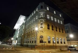 Teste de iluminação do Museu de Arte do Rio Foto: Fabio Rossi / O Globo