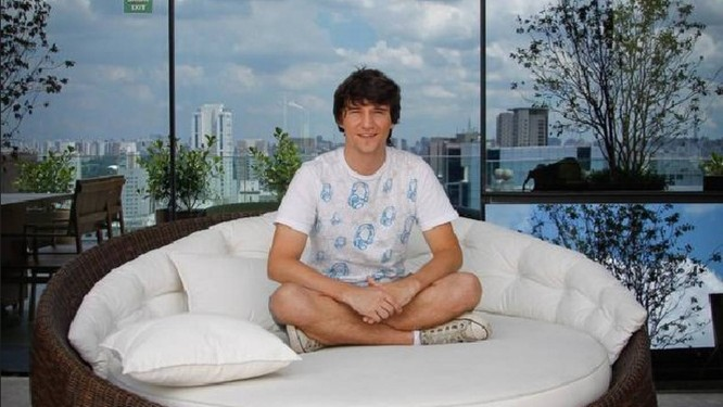 O catarinense Alberto Lung, que entrou como estagiário no Google, em São Paulo, e acaba de ser contratado Foto: Marcos Alves / Agência O Globo