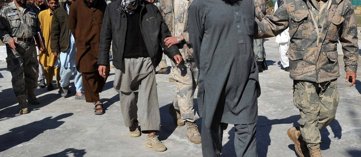 Sete insurgentes são presos no Talibã Foto: Noorullah Shirzada / AFP
