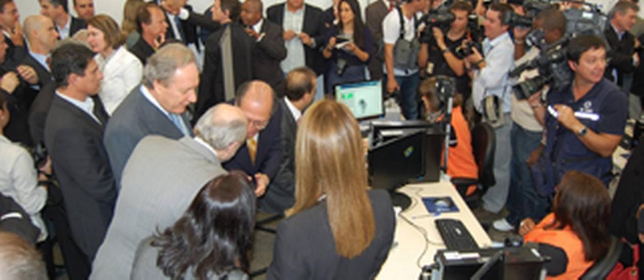 Inauguração da central de cadastramento biométrico em Jundiaí - 25/07/2011 Foto: DIVULGAÇÃO / TSE