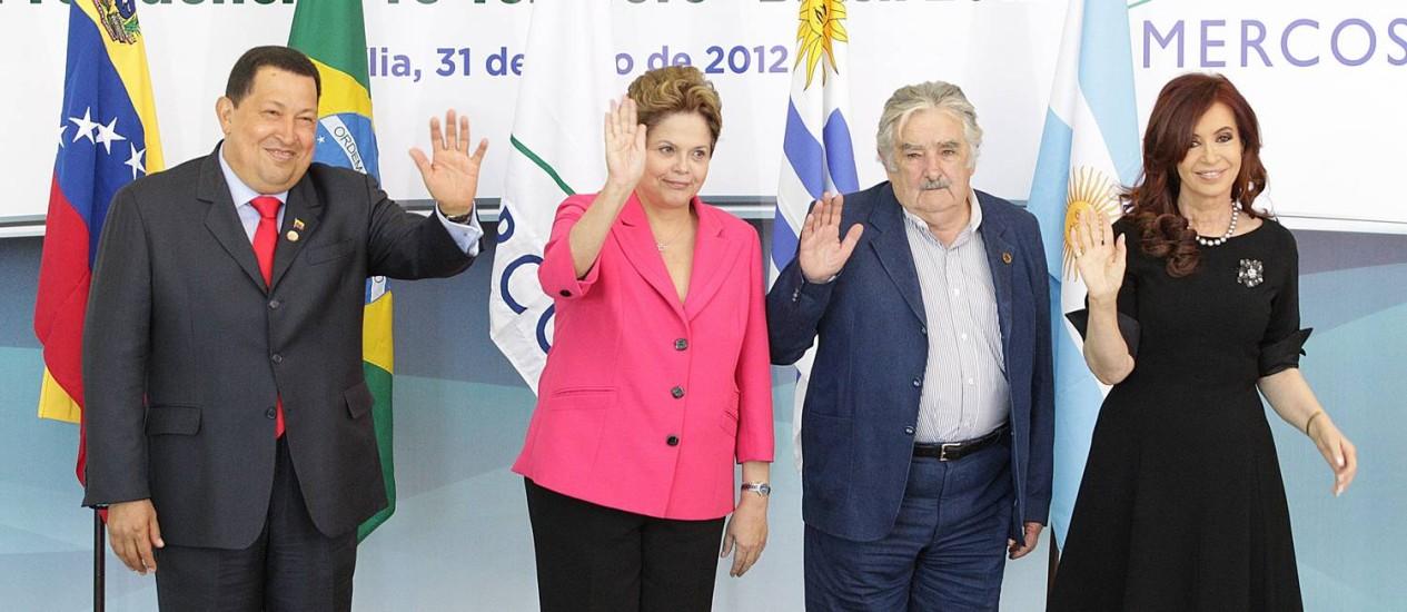 Reunião de Cúpula Extraordinária do Mercosul, no Palácio do Planalto em julho do ano passado Foto: André Coelho/Arquivo