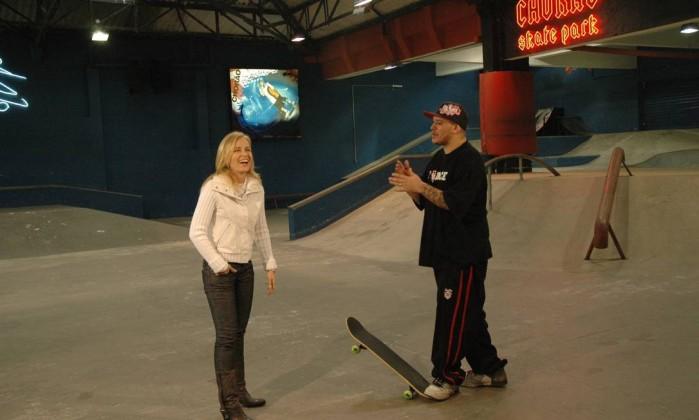 Em 2007, Angélica e visitou o Chorão Skate Park, misto de pista de skate e palco musical, mantido pelo cantor em Santos. A entrevista foi ao ar no 'Estrelas' Deborah Montenegro / TV Globo