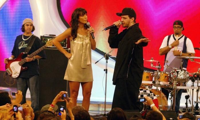 Com Ivete Sangalo nas gravações do programa 'Estação Globo', em 2007 Fábio Guimaraes / TV Globo