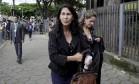 Sônia Moura, mãe de Eliza Samúdio, na chegada ao fórum, na época do julgamento de Bruno Foto: Fabiano Rocha / Agência O Globo