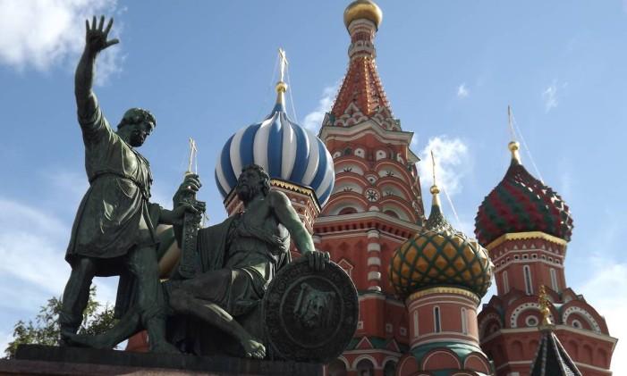 A Catedral de São Basílio, em Moscou Foto: Milton Calmon Filho / O GLOBO