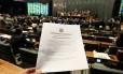 Cédula única para votação dos vetos aos royalties do petróleo