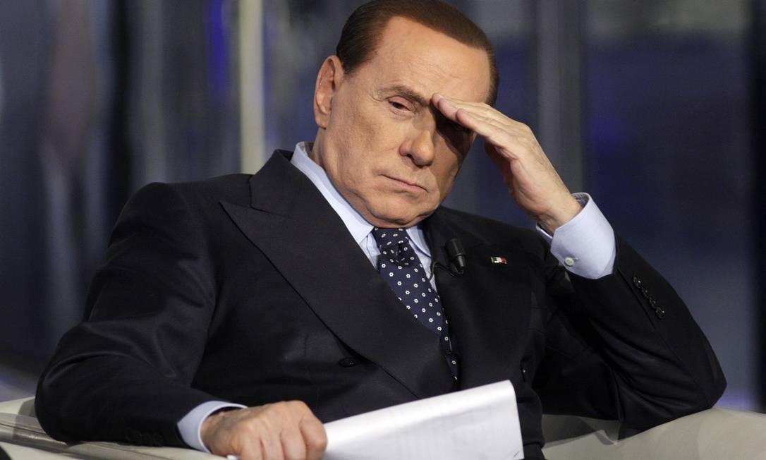 Primeiro-ministro italiano Silvio Berlusconi em um programa de televisão em fevereiro de 2013 Foto: REMO CASILLI / REUTERS