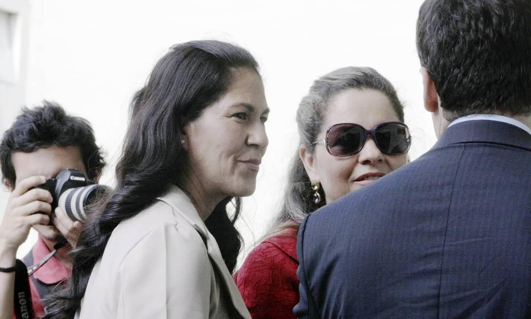 Sônia Moura, pouco antes da retomada do julgamento de Bruno Foto: Fabiano Rocha / Agência O Globo