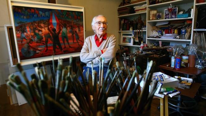 Enrico Bianco, italiano que foi assistente de Portinari durante 18 anos Foto: Marcos Ramos / Agência O Globo