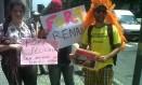 Manifestantes pedem saída de Marco Feliciano e de Renan Calheiros nas ruas do Rio e convocam para ato Foto: Agência O Globo / Daniel Biasetto