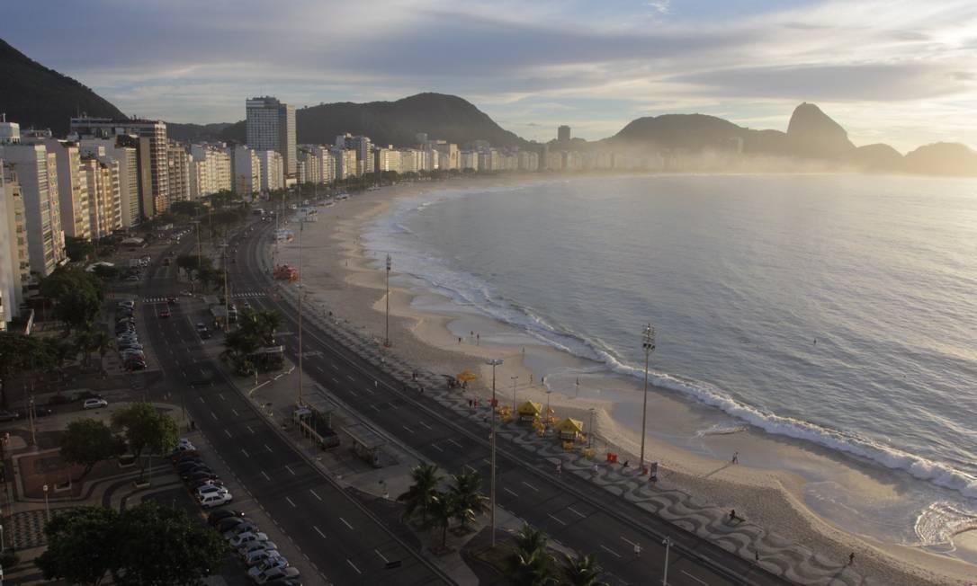 Tenda com atividades para o público ficará montada em frente ao posto 4 Foto: Carlos Ivan / Agência O Globo