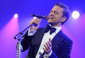 Justin Timberlake em apresentação de fevereiro deste ano em Nova Orleans Foto: Divulgação / Divulgação