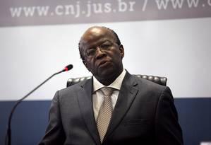 Presidente do CNJ, Joaquim Barbosa Foto: Divulgação