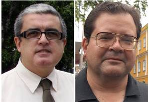 Roquette (à esquerda) quer reconhecimento; Teixeira (à direita) diz ter pesquisado Foto: O Globo