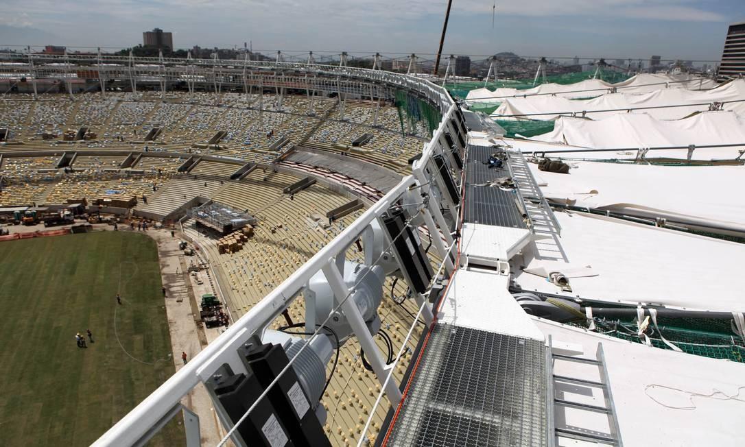 A vista do teto do Maracanã Foto: Divulgação