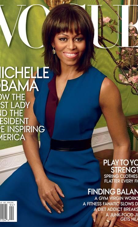 """Michelle Obama, primeira-dama dos EUA, fotografada por Annie Leibovitz para a edição americana da """"Vogue"""" Foto: Reprodução"""