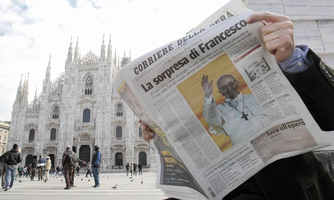 Resultado de imagem para papa francisco em milao panorama